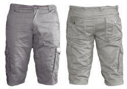 Mens' Box Half Pants / Shorts - Grey