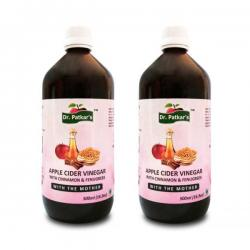 Dr. Patkar's Apple Cider Vinegar with Cinnamon and Fenugreek (500ML x 2)