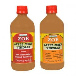 Zoe Apple Cider Vinegar with Ginger, Garlic, Lemon, Fenugreek and Honey 500 Ml