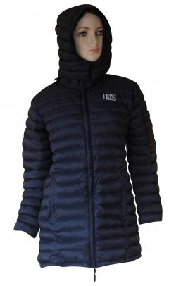 Blue Black Silicon Jacket For Women