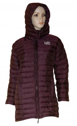 Dark Maroon Color Silicon Jacket For Women