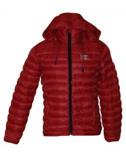 Dark Red Color Short Silicon Jacket