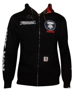 Dark Black Aape Jacket For Men