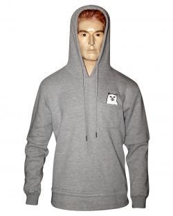 RipNDip Full Grey Hoodie