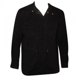 Dark Black Coat Style Fancy Jacket For Men
