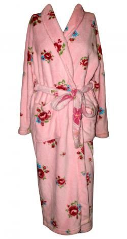 Pink Floral Polar Gown For Women