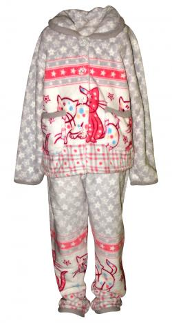 Animal Printed Off White Colored Cloth Set For Kids