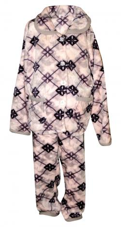 Check Patterned Off White Colored Cloth Set For Kids