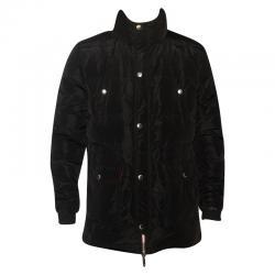Dark Black Colored Full Sleeve Long Jacket For Men