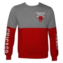 Red & Grey Contrast Chicago Bulls T-Shirt For Men
