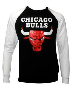 Black & White Colored Chicago Bulls T-Shirt For Men