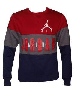 Tri Color Air Jordan Full Sleeve T-Shirt For Men