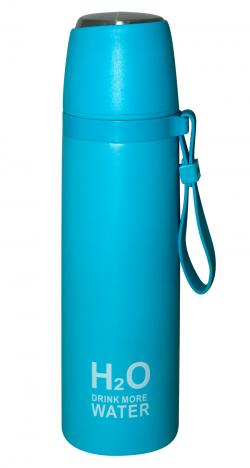 Light Blue Colored H2O Water Bottle - 500ml