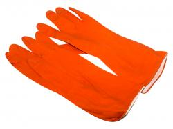 Household Latex Gloves - Orange Color