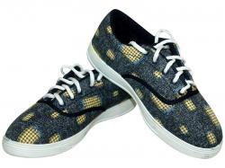 Goldstar Patch Work Style Shoes - Blue