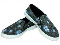 Goldstar Patch Work Style Loafer Shoes