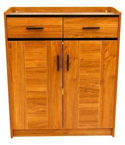 Light Brown Wooden Rack - 2 Door 2 Drawer - (SD-008)