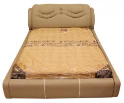 Light Cream Colored Regjin Bed - (SD-034)
