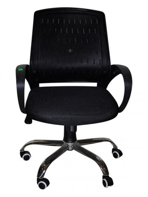 Dark Black Net Chair - Office Chair - (SD-019)