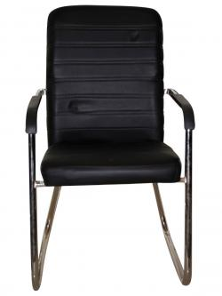 Fixed Visitor Chair - Dark Black - (SD-020)