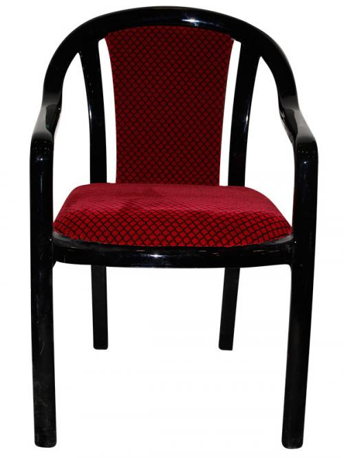 Supreme Ornate Chair - Black & Red - (SD-023)