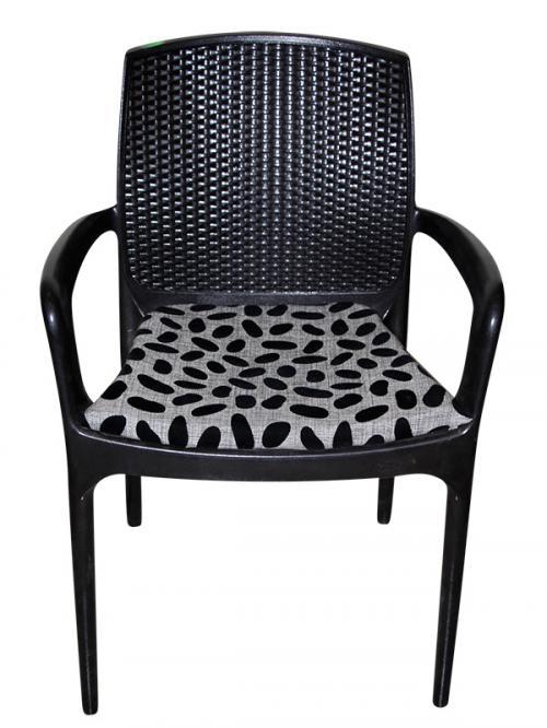 Dark Black Chair - Velvet Seat - (SD-025)