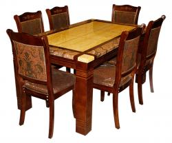 Marble Coated Dining Table - 6 Seater - (SD-026)
