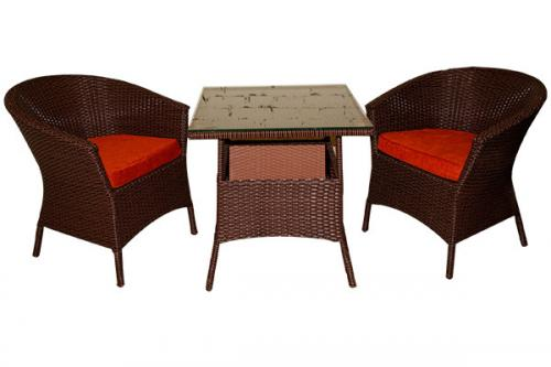 Dark Brown Coffee Table & Chair - Per Piece - (SD-030)