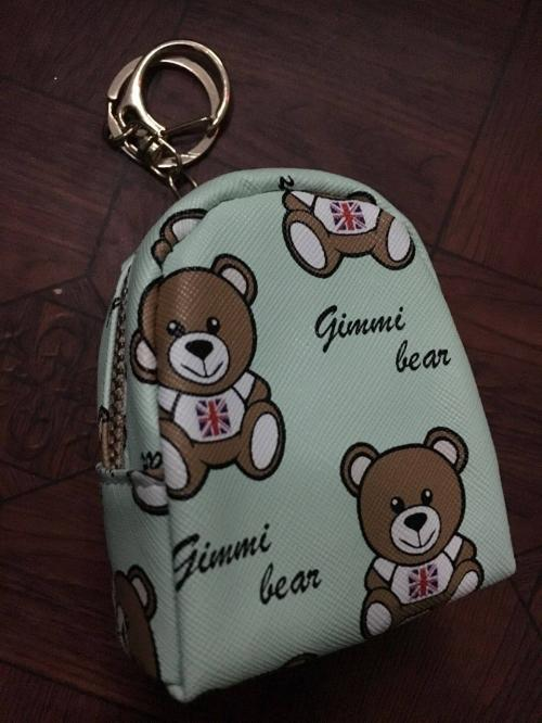 Keyring with purse
