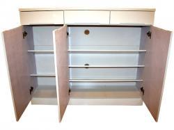Full White 3 Door Wooden Rack - (SD-044)