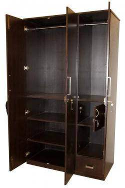 Dark Brown Three Door Cupboard - (SD-060)