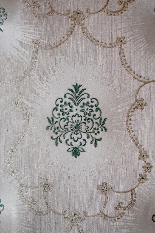 Light Grey Floral Pattern Wallpaper For Home Decoration (002800)