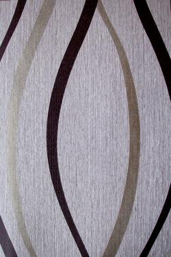 Black and Grey Curved Pattern Wallpaper For Home Decoration (002800)