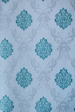 Blue Floral Pattern Wallpaper For Home Decoration(002800)