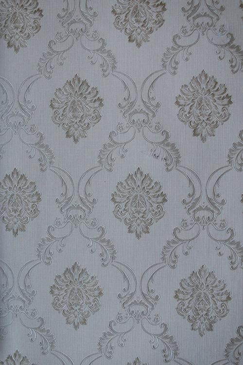 AshGrey Floral Pattern Wallpaper For Home Decoration (002800)