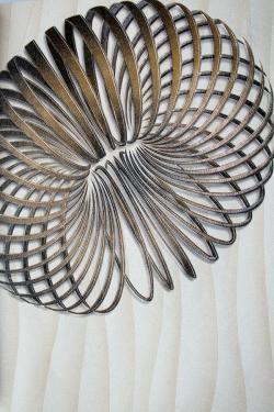 White Spiral Design Wallpaper For Home Decoration