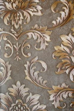 Brown & Grey Floral Design Wallpaper For Home Decoration (002400) SD-WP-025