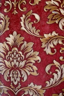 Red & Brown Floral Design Wallpaper For Home Decoration SD-WP-026