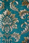Brown & Teal Floral Design Wallpaper For Home Decoration (002400) SD-WP-027