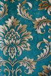 Brown & Teal Floral Design Wallpaper For Home Decoration (002400) SD-WP-027