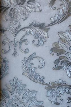 Silver & White Floral Design Wallpaper For Home Decoration (002400) SD-WP-028