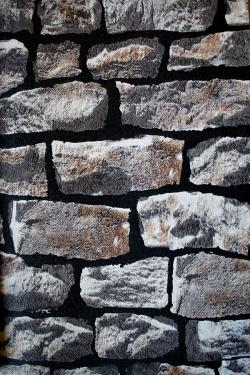 Black & Grey Stone Wall Design Wallpaper For Home Decoration (002400) SD-WP-043