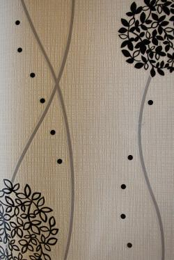 Black Floral Pattern Wallpaper For Home Decoration SD-WP-073