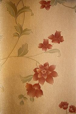 Russet Brown Floral Design Wallpaper For Home Decoration SD-WP-077