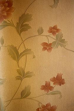 Sandy Brown Floral Design Wallpaper For Home Decoration SD-WP-078
