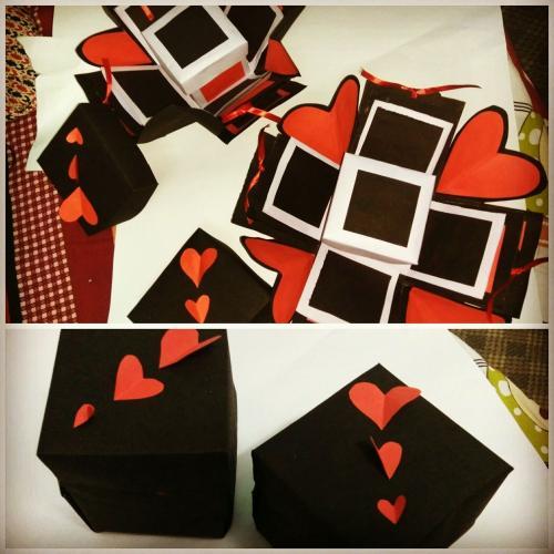 Handmade gift(explosion box)
