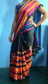 Multiclour Japanese Crape Saree