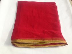 Chiffon plain saree