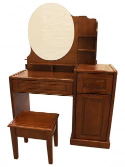 Dark Brown Wooden Dressing Table - (SD-039)