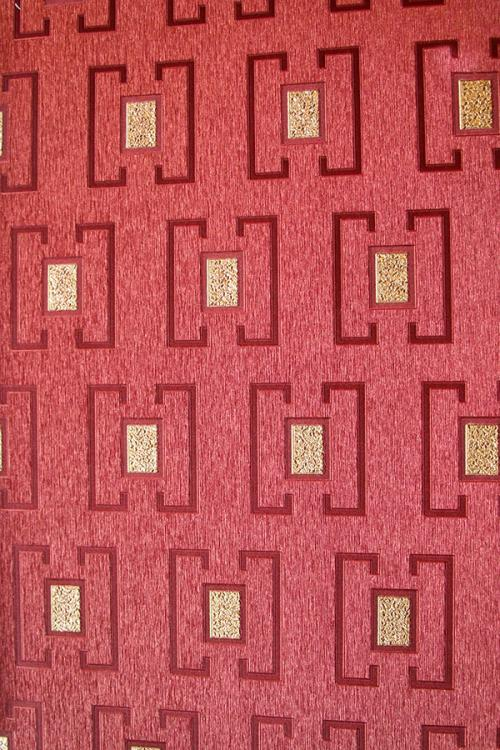 Red Box Pattern Wallpaper For Home Decoration (003200)
